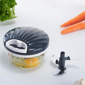 Plastic Manual Vegetable Chopper Hand Food Chopper