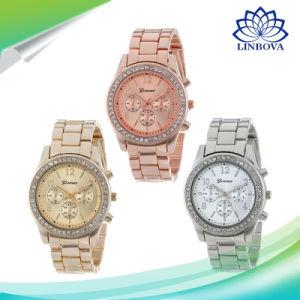 Fashionable Luxury Rose Gold Women Watches Geneva Diamond Watch Metal Steel Alloy Clock Lady Male Wrisches