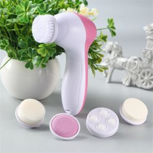 China 5 In 1 Mini Face Cleaning Exfoliator Spin Brush Beauty Care