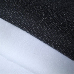 Hot Sale 100% Polyester Woven Twill Fusible Interlining for Garments pictures & photos
