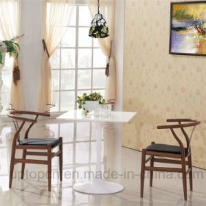Modern Restaurant Furniture Set with Elegant Y Chair and Square Tulip Table (SP-CT663) pictures & photos