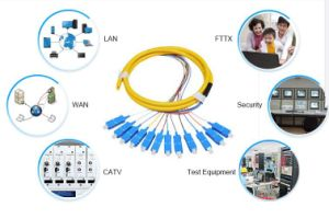 0.9mm Sm G657A Optical Fiber Cable Pigtail with St FC Sc LC Connecotrs pictures & photos