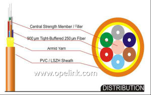 Indoor Optical Fiber Cable Distribution Fiber Cable for Network Access Application pictures & photos