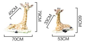 Life Size Fiber Glass Giraffe of Large Statue pictures & photos
