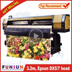Big Discount Funsunjet Fs-3202g 3.2m/10FT Outdoor Wide Format Printer with Two Dx5 Heads 1440dpi for Flex Banners Printing pictures & photos