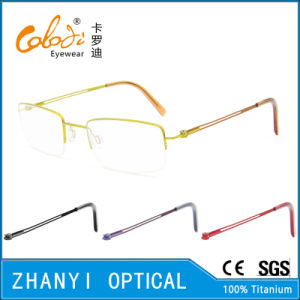 Simple Beta Titanium Eyewear Eyeglass Optical Glasses Frame (8505)