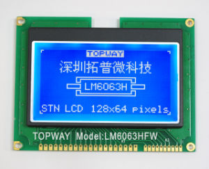 128X64 Graphic LCD Display (LM6063) with Ultra High Contrast pictures & photos