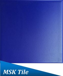China X Matt Cobalt Blue Glazed Interior Ceramic Tile China - Cobalt blue ceramic tile 4x4