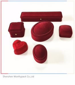 Velvet Jewelry Gift Boxes/Packaging Box with Custom Logo Printed
