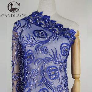 Royal Blue Nigeria Laces Fabric for Wedding Dress pictures & photos
