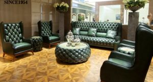 Classic Antique Chesterfield Luxury Leather Sofa Sets pictures & photos