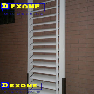 Oval Aluminium Louver Shutter Window as Facade