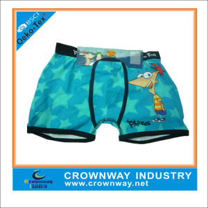 100% Cotton Soft and Breathable Cute Cartoon Child Boys Boxer Short pictures & photos