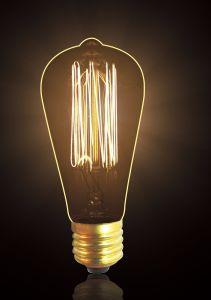 Tungsten Lamp St46 Carbon Filament Bulb High Performance Edison Style Bulb