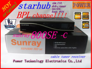 Mvhd800c Sunray 800se Cable Starhub Set Top Box Bpl Channel for Singapore