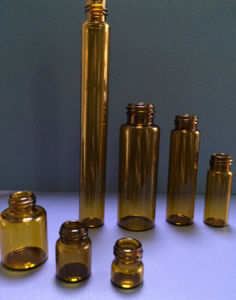 1ml-50ml Screwed Amber Tubular Glass Vial for Pharma and Cosmetic Packing
