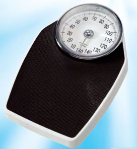 Kg Display Black Color Mechanical Personal Scale with Chrome Plate