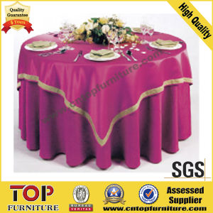 100% Polyester Banquet Hall Table Cover pictures & photos