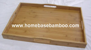 Bamboo Tea Food Coffee Fruit Serving Tray Tableware Storage Organizer Hb411 pictures & photos