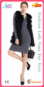 Fashion Sexy Long Sleeveless Faux Fake Fox Rabbit Fur Coat Garment Vest (SR-5002)