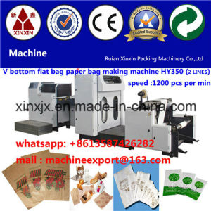 Paper Food Bag Making Machine with 2 Color Printing Machine in Line Food Paper Bag Making Machine