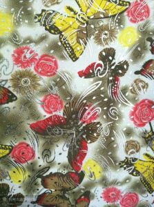 600d Flower Cabinet Printed Fabric 4 Color