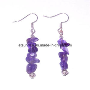 Natural Fashion Amethyst Crystal Chips Beaded Jewellery Earring pictures & photos