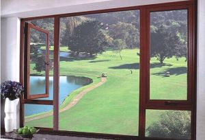 Grand Aluminum Frame Swing Inward Finished Window pictures & photos