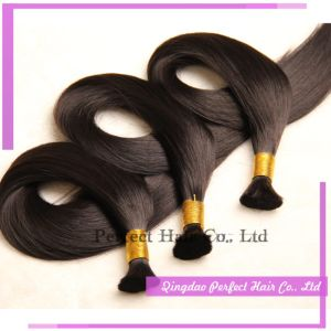 Indian Hair Bulk Relaxer Raw Remy Virgin Indian Hair pictures & photos