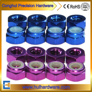 Aluminum Anodized Hex Lock Nuts, Colored Aluminum Nylock Nuts pictures & photos