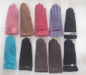 Lady Fashion Wool Gloves (JYG-28010) pictures & photos