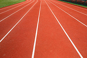 Sports Court Use Synthetic Rubber Running Track in Recycled Rolls