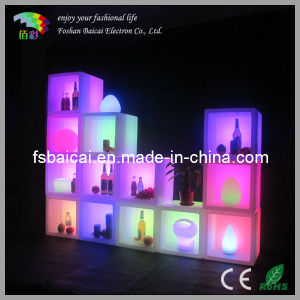 LED Ice Cube Plastic Cube Wine Cabinet Square Ice Bucket