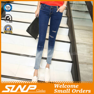 New Fashion Women High Waist Jean Pants Clothing with Hole