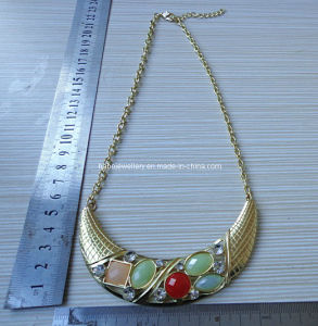 Fashion Resin Stone Necklace (XJW12914) pictures & photos