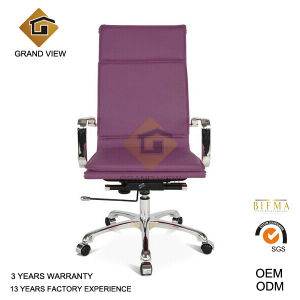 Purple Leather Visitor Chair with Arm Rest (GV-OC-H305) pictures & photos