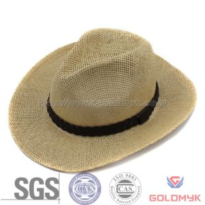 Paper Straw Cowboy Hat for Man (GKA03-A00005) pictures & photos