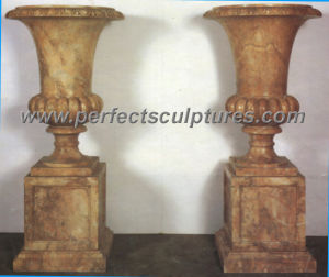 Garden Stone Marble Flower Pot for Garden Decoration (QFP160)