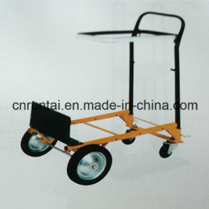 Foldable Competitive Price Hand Trolley with PU Caster pictures & photos