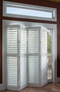 Basswood Folding Indoor Window Shutters Door For Interior