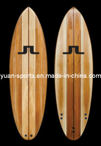 Surfboard With Wood Veneer Surface Stand Up Paddle Board