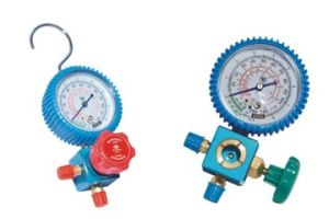 Three-Way Valve Air Conditioner Valve with Manometer