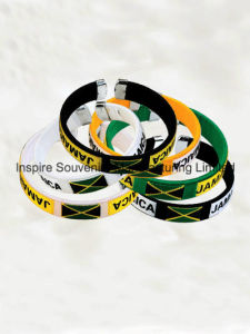 Jamaica Flag Plastic Wrist Band for Collection (BS-007) pictures & photos
