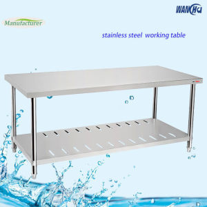 China Stainless Steel Work Tables With Undershelf China Stainless - Stainless steel work table with shelves