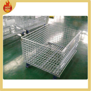 Heavy Duty Folding Stackable Metal Storage Cage pictures & photos