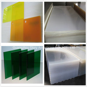 Perspex Fluorescent Plate Color Plastic Casting Acrylic Sheet pictures & photos