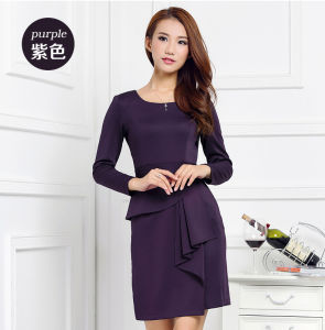 China Supplier OEM 2015 Latest Winter Fashion Women Slim Dress pictures & photos