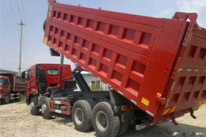 Competive Price HOWO T7h 8*4 Dump Truck of Man Technology pictures & photos