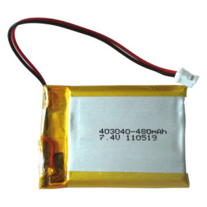 High Capacity Polymer Lithium Rechargeable Battery Pack7.4V (480mAh)