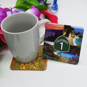 Custom Cheap Promotional Absorbent Wood Cup Coaster pictures & photos